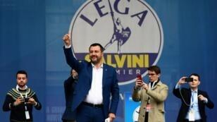 Matteo Salvini, en Milán, durante un encuentro de partidos europeos nacionalistas.