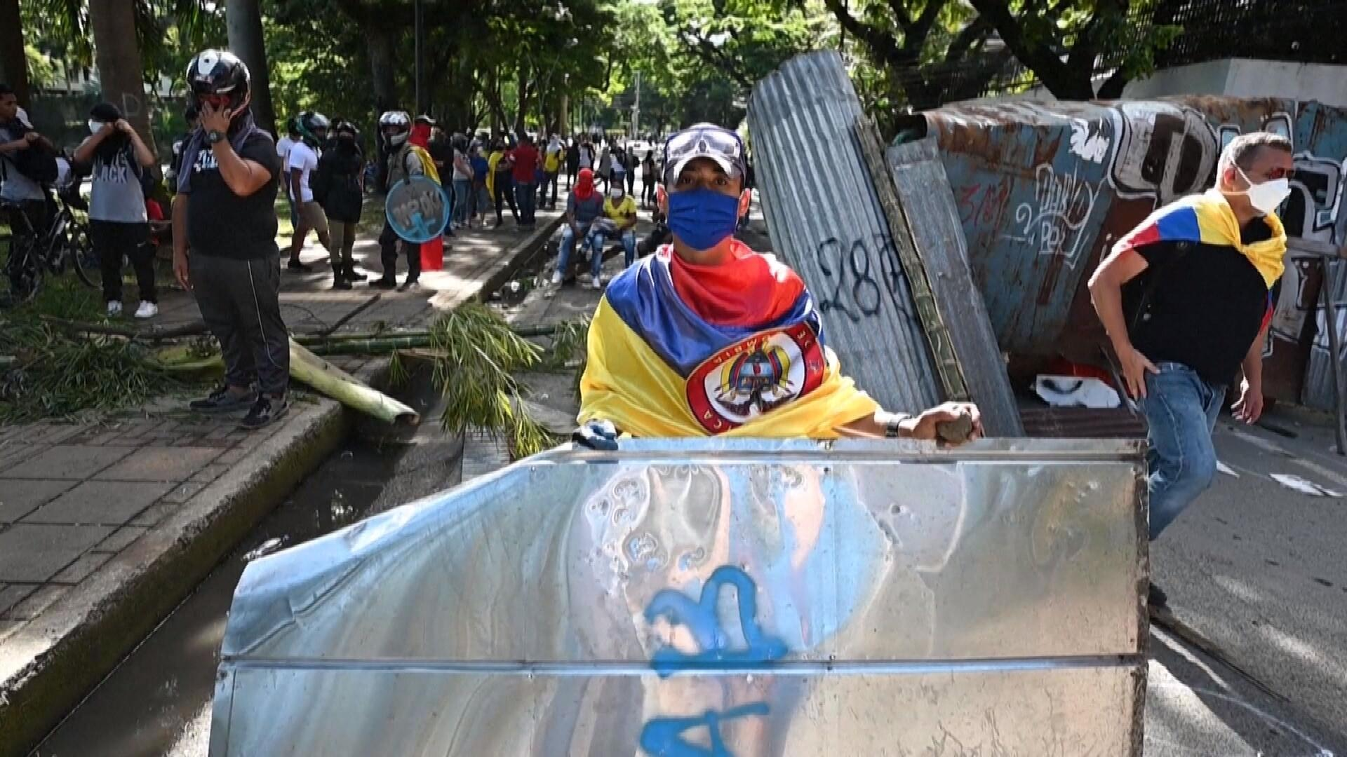 XX NW OOV ECRAN FREEZE COLOMBIE PROTESTS