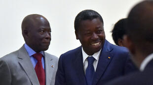 Togo's President Faure Gnassingbe on April 28 in Lome.