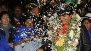 Evo Morales, président bolivien