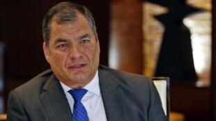 El ex-presidente de Ecuador, Rafael Correa, en una imágen de archivo.