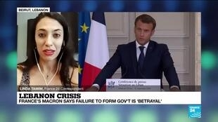 2020-09-28 12:04 Lebanon crisis: France's Macron says failure to form govt is 'betrayal'
