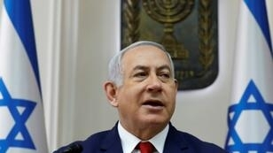 Israeli Prime Minister Benjamin Netanyahu, pictured here at a cabinet meeting on January 6, 2019, is set to visit Chad