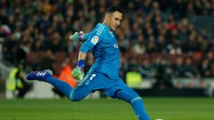Le gardien costaricien Keylor Navas a signé pour quatre ans au PSG. Ici, le 6 février 2019 lors d'un match entre le Real Madrid et le Barcelone.