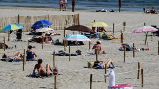 In France as elsewhere in Europe, beaches and other public places are slowly reopening -- but with social distancing rules in place
