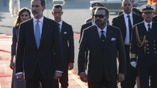 ملك إسبانيا فيليبي السادس يصل إلى المغرب برفقة زوجته 13 فبراير/شباط 2019