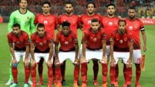 لاعبو النادي الأهلي المصري.