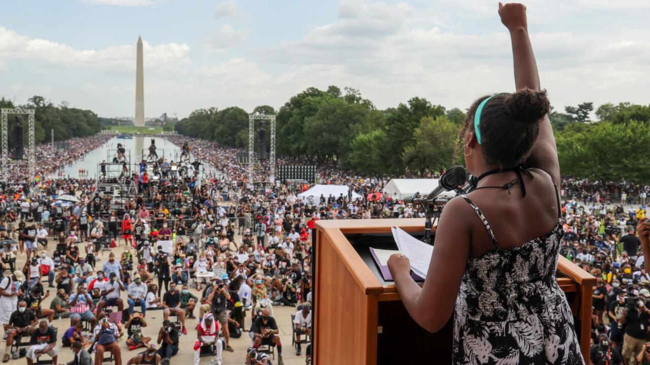 Des milliers de manifestants ont protesté contre le racisme, le 28 août 2020 à Washington.