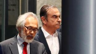 كارلوس غصن، رئيس شركة نيسان السابق أثناء فترة اعتقاله في طوكيو، اليابان، 25 أبريل/ نيسان 2019.