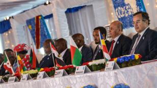 Une délégation des pays membres de la Comesa, le 26 février 2014 à Kinshasa, en RD Congo.