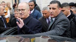 رئيس الوزراء الفلسطيني المستقيل رامي الحمد الله في الخليل 29 يناير/كانون الثاني 2019
