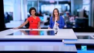 Liliana Valencia y Ángela Gómez, presentadoras de France 24 en español