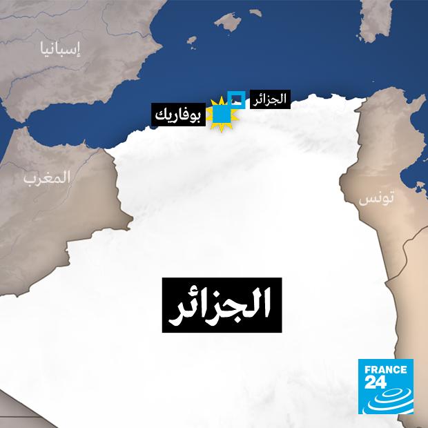 تحطم طائرة عسكرية جزائرية قرب قاعدة بوفاريك الجوية