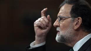 Le chef du gouvernement espagnol, Mariano Rajoy, à la Chambre des députés à Madrid, le 31 mai 2018.