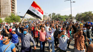 Tens of thousands of Iraqis massed in Baghdad's Tahrir Square on November 1 in the biggest demonstrations since anti-government protests erupted a month ago