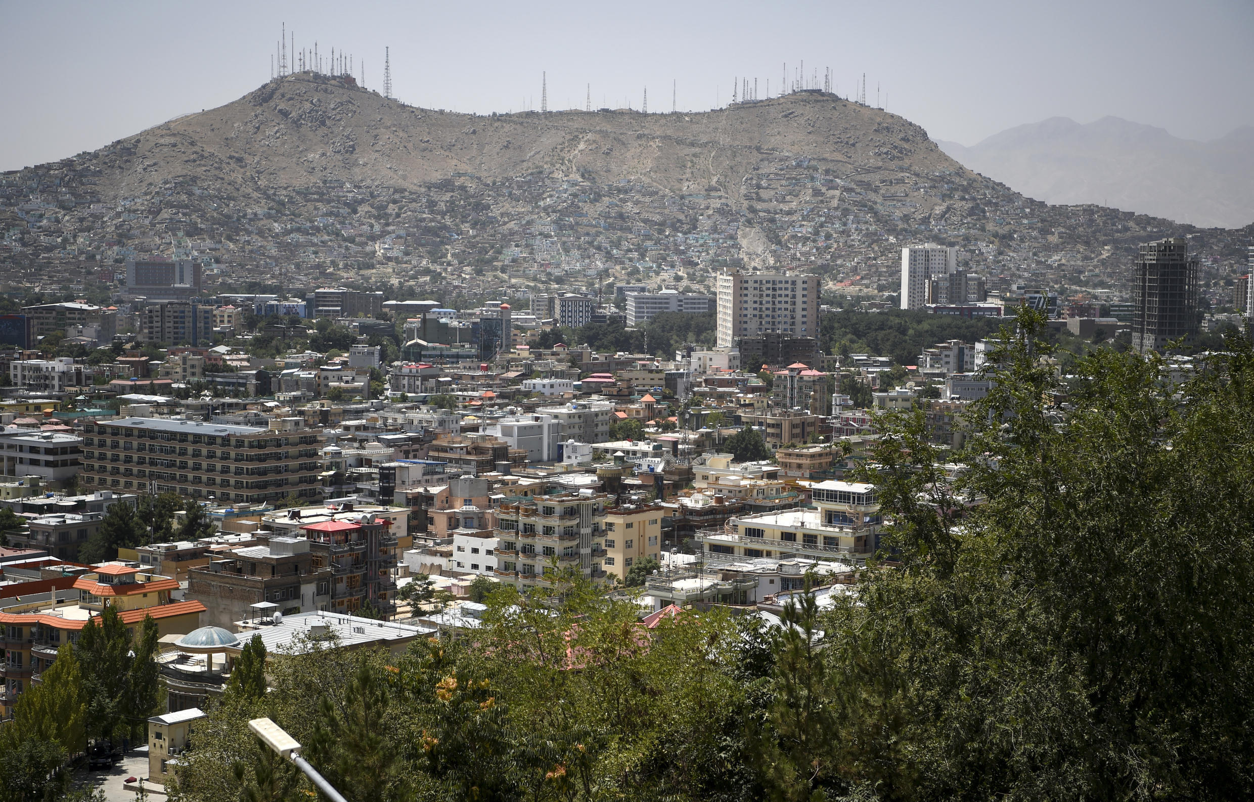 A view of the Afghan capital Kabul.