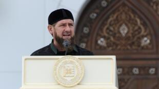 الرئيس الشيشاني رمضان قديروف خلال تدشين مسجد - 23 أغسطس/آب 2019.