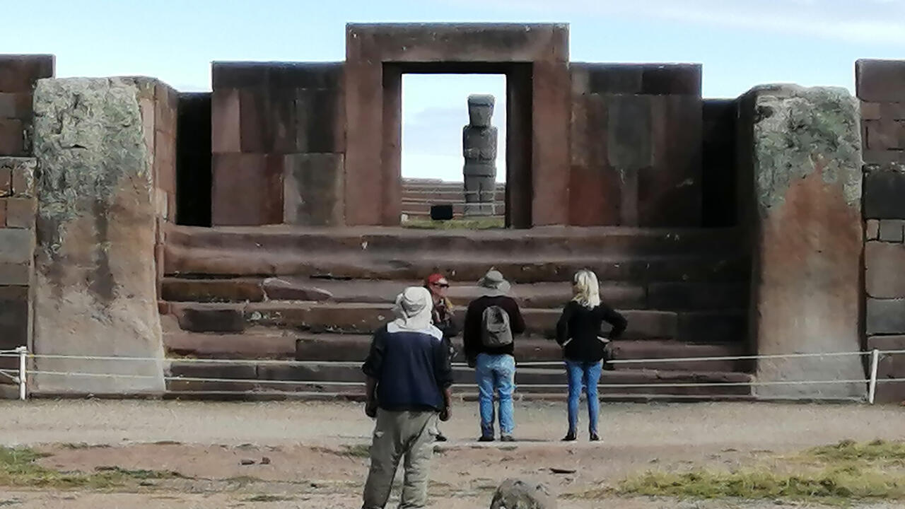 Vista del templo de Kalasasaya en el complejo arqueológico de Tiwanaku, a 71 kilómetros de La Paz. Tiwanaku pervivió entre el año 200 antes de Cristo y el 1.150 de nuestra era.