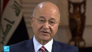الرئيس العراقي برهم صالح.