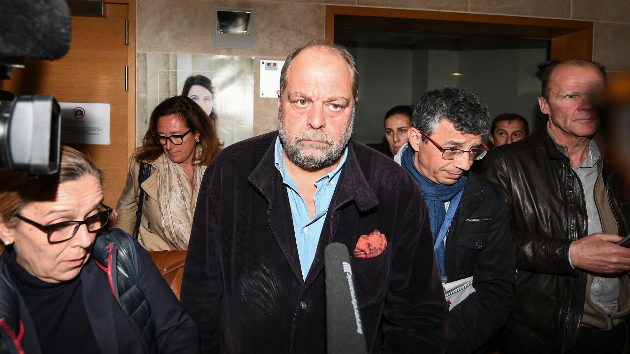 """L'avocat Éric Dupond-Moretti, qui a défendu les pilotes, lors du procès """"Air Cocaïne""""."""