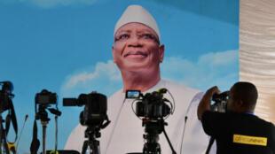 Une affiche de campagne du président malien Ibrahim Boubacar Keïta, le 30 juillet 2018.