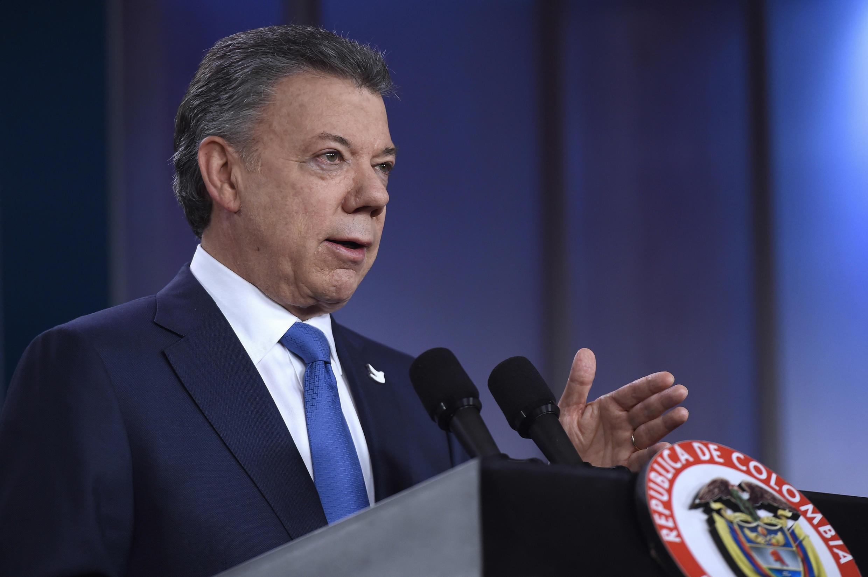Le président colombien Juan Manuel Santos, nouveau lauréat du prix Nobel de la paix.