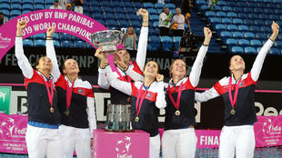 France beat Australia in last year's Fed Cup final in Perth