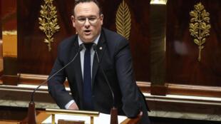 Damien Abad, patron des députés LR, à l'Assemblée nationale, le 3 mars 2020
