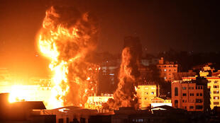 Israel airstrikes gaza early AM May 17