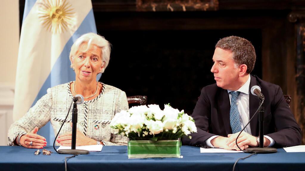 Christine Lagarde, directora del FMI y Nicolás Dujovne, ministro de Hacienda argentino, ofrecieron detalles del nuevo acuerdo el 26 de septiembre de 2018.