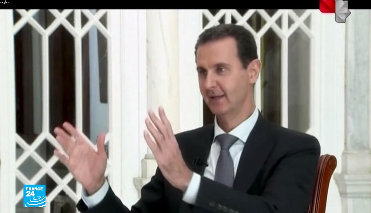 الرئيس الأسد في مقابلة تلفزيونية