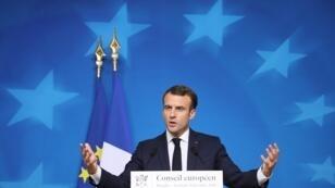 الرئيس الفرنسي إيمانويل ماكرون - 12 ديسمبر/كانون الأول 2018
