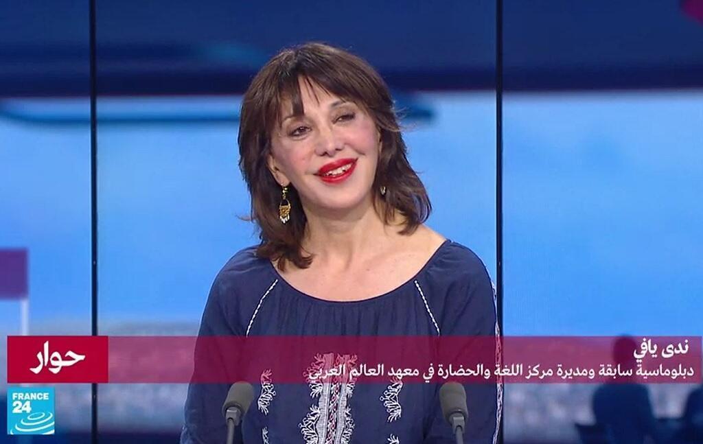 """ندى يافي المترجمة للرئيسين ميتران وشيراك ومديرة مركز """"اللغة والحضارة"""" في معهد العالم العربي."""