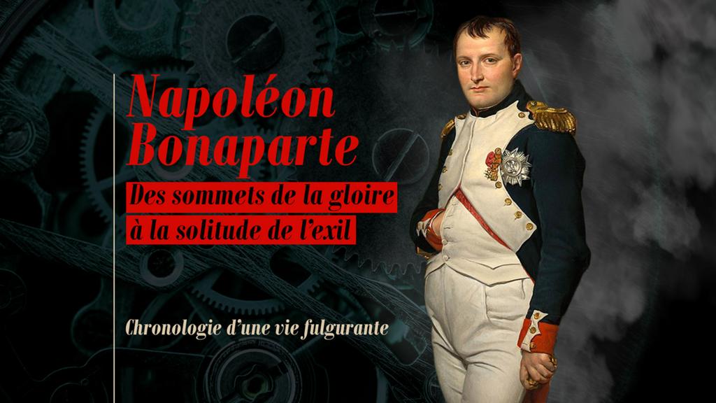 Chronologie : Napoléon Bonaparte, des sommets de la gloire à la solitude de l'exil