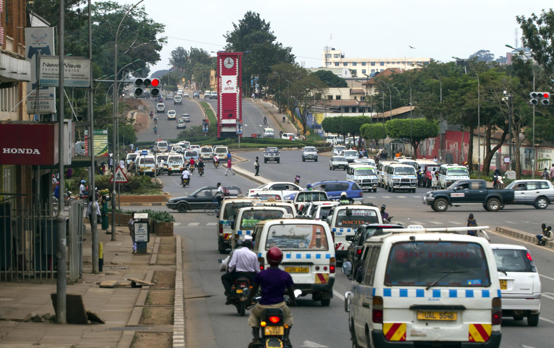 A Kampala street in September 2014.