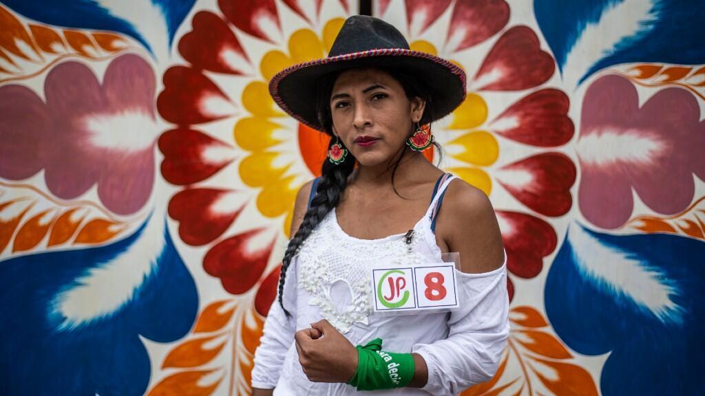La transexual indígena peruana Gahela Cari, miembra del partido de izquierda Juntos por el Perú, en Lima, el 22 de enero de 2020.
