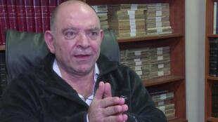 صورة مأخوذة عن شريط فيديو لوكالة الأنباء الفرنسية خلال مقابلة مع لقمان سليم في 19 تشرين الثاني/نوفمبر 2018