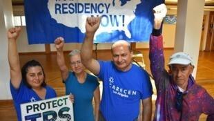 Activistas centroamericanos por el TPS