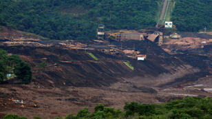 Vue aérienne du barrage minier, vendredi 25 janvier 2019, après la catastrophe.