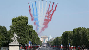 File photo of France's traditional July 14 military parade