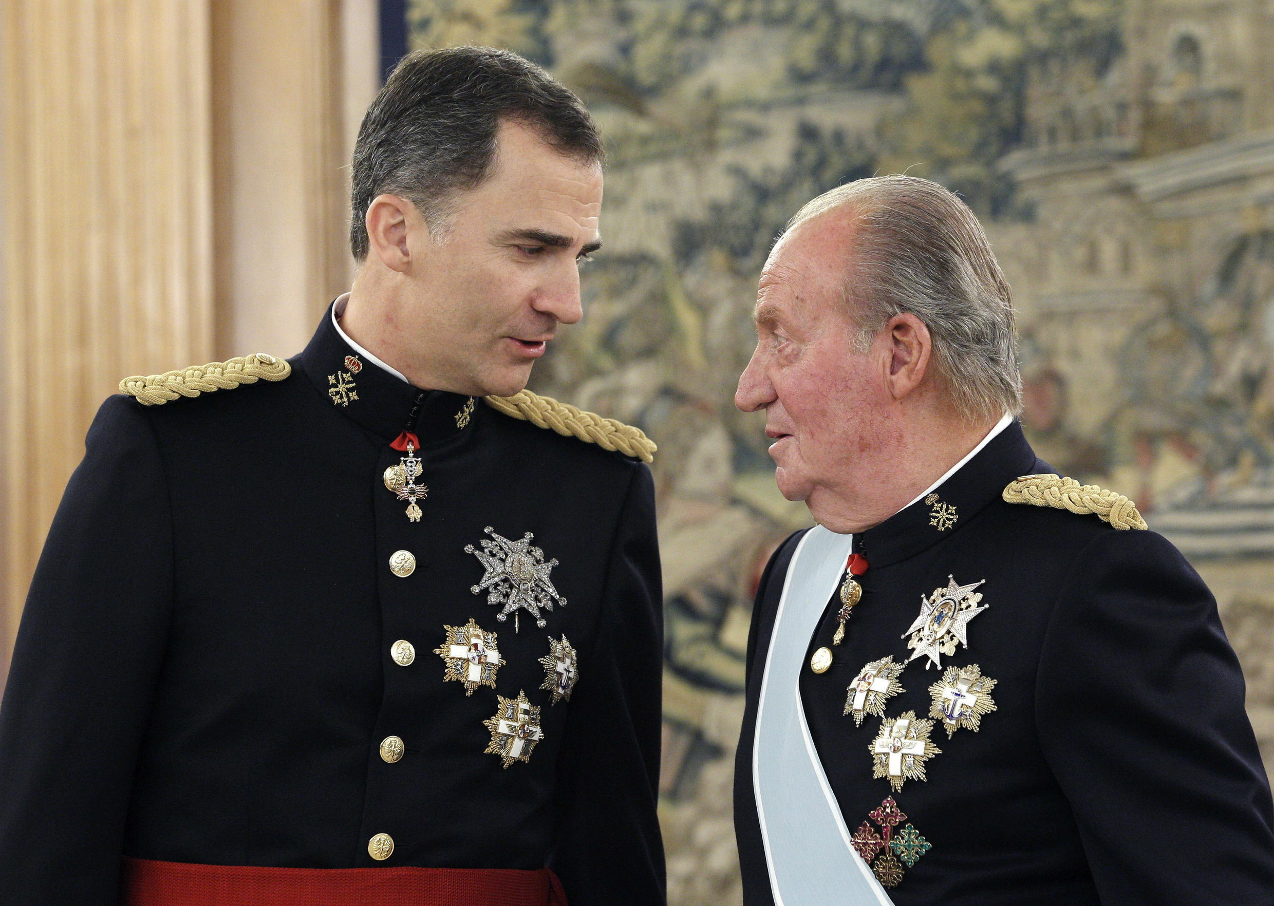 "Spain's former king Juan Carlos said he is leaving the country to help his son, the current King Felipe VI, ""exercise his responsibilities""."