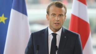 Emmanuel Macron à Copenhague, le 29 août.