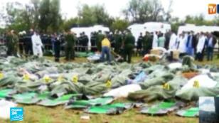 تحطم طائرة عسكرية في بوفاريك بالجزائر - 11 أبريل/نيسان 2018