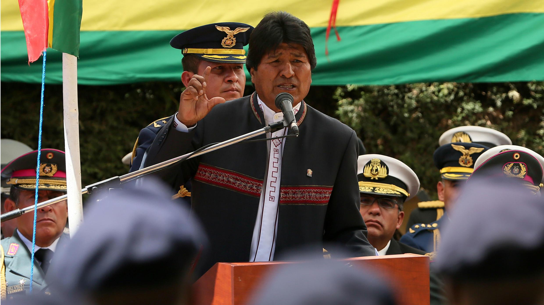 El presidente boliviano, Evo Morales, durante un acto en La Paz en noviembre de 2017.