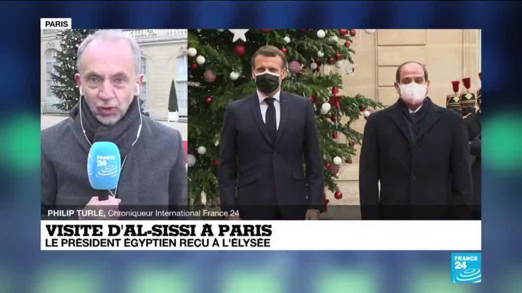 2020-12-07 12:01 Visite d'al-Sissi à Paris : le président égyptien reçu à l'Elysée