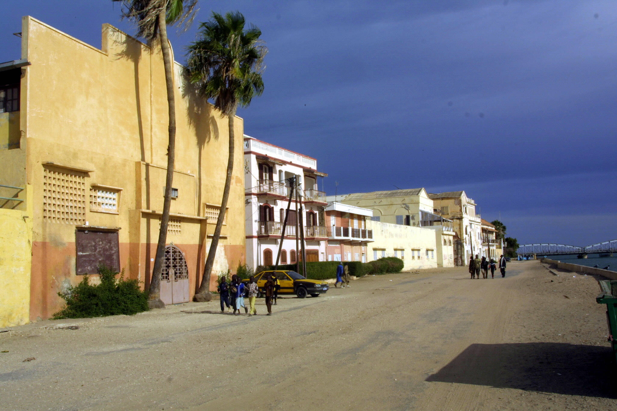 Saint-Louis was the capital of the French colony of Senegal and its colonial-era architecture helped make the island a UNESCO World Heritage Site