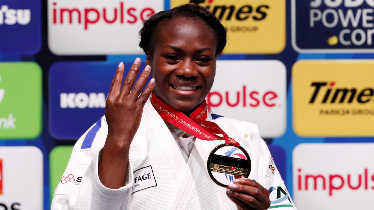 La judoka tricolore Clarisse Agbegnenou a remporté une quatrième couronne mondiale à Tokyo.