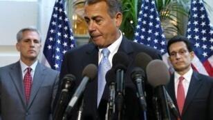 Le président de la Chambre des représentants, John Boehner.