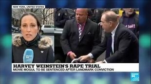 2020-03-11 14:03 Harvey Weinstein to be sentenced after landmark conviction