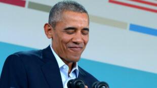 باراك أوباما متحدثاً مع الصحافيين في قمة زعماء جنوب شرق آسيا في كاليفورنيا في ١٦ شباط/فبراير ٢٠١٦